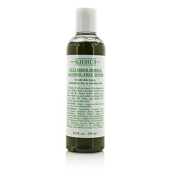 Kiehl's Cucumber Herbal Alcohol-Free Toner - For Dry or Sensitive Skin Types  250ml/8.4oz