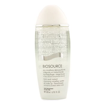 Biotherm Biosource Total And Instant Cleansing Micellar Water  200ml/6.76oz