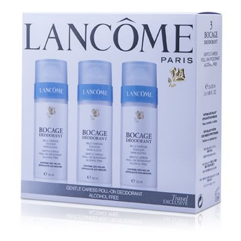 Lancome Bocage Trio: Gentle Caress Deodorant Roll-On  3x50ml/1.69oz