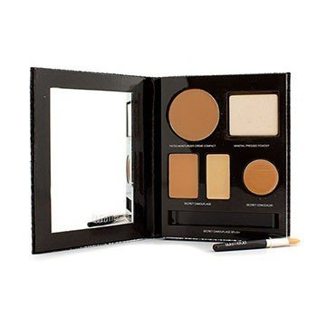 Laura Mercier The Flawless Face Book - # Tan (1x Creme Compact, 1x Pressed Powder w/ sponge, 1x Secret Camouflage...)  5pcs