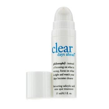 Philosophy Clear Days Ahead Fast-Acting Salicylic Acid Acne Spot Treatment  15ml/0.5oz