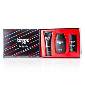 Guy Laroche Drakkar Noir Coffret: Eau De Toilette Spray 100ml/3.4oz + After Shave Balm 100ml/3.4oz + Deodorant Stick 75g/2.6oz  3pcs