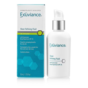Exuviance Sheer Refining Fluid SPF 35 - For Oily/ Acne Prone Skin  50ml/1.75oz