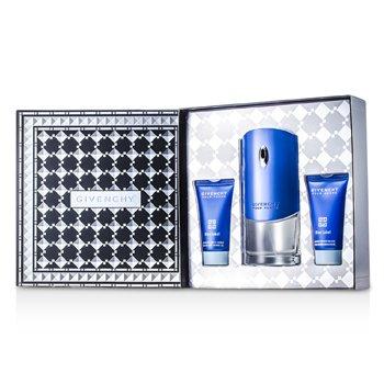 Givenchy Blue Label Coffret: Eau De Toilette Spray 100ml/3.3oz + Shower Gel 50ml/1.7oz + After Shave Balm 50ml/1.7oz  3pcs