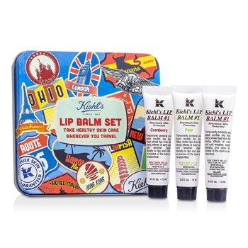 Kiehl's Lip Balm #1 Set: Lip Balm #1 15ml/0.5oz + Lip Balm #1 Cranberry 15ml/0.5oz + Lip Balm #1 Pear 15ml/0.5oz  3x15ml/0.5oz