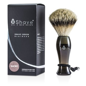 EShave Finest Badger Long Shaving Brush - Smoke  1pc