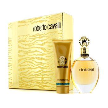 Roberto Cavalli Roberto Cavalli (New) Coffret: Eau De Parfum Spray 75ml/2.5oz + Body Lotion 75ml/2.5oz (Gold Box)  2pcs