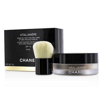 Chanel Vitalumiere Loose Powder Foundation SPF15 With Mini Kabuki Brush - # 40  10g/0.35oz