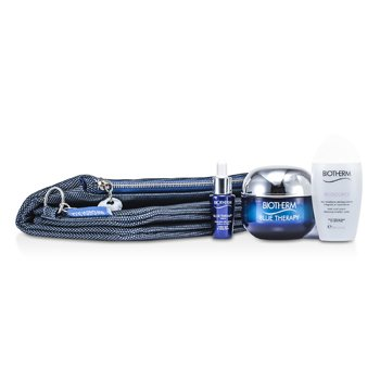 Biotherm Blue Therapy Set: Blue Therapy Cream SPF 15 50ml + Blue Therapy Serum 7ml + Biosource Micellar Water 30ml + Bag  3pcs+1bag