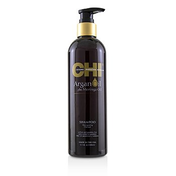 CHI Argan Oil Plus Moringa Oil Shampoo - Sulfate & Paraben Free  355ml/12oz