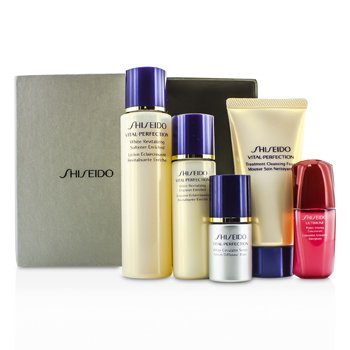 Shiseido Vital-Perfection Set: Cleansing Foam 50ml + Softener 75ml +  Emulsion 30ml + Ultimune Concentrate 10ml + Serum 10ml  5pcs