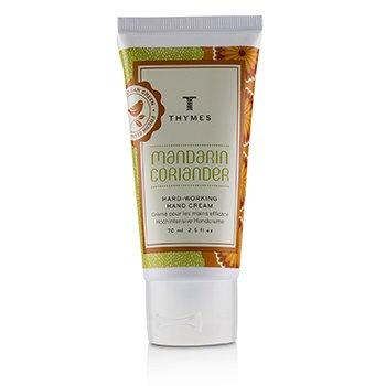 Thymes Mandarin Coriander Hard Working Hand Cream  70ml/2.5oz