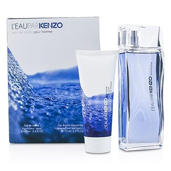 Kenzo L'Eau Par Kenzo Coffret: Eau De Toilette Spray 100ml/3.4oz + Hair & Body Shampoo 75ml/2.5oz  2pcs