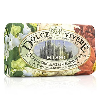 Nesti Dante Dolce Vivere Fine Natural Soap - Milano - Lily Of The Valley, Willow Tree & Oak Musk  250g/8.8oz