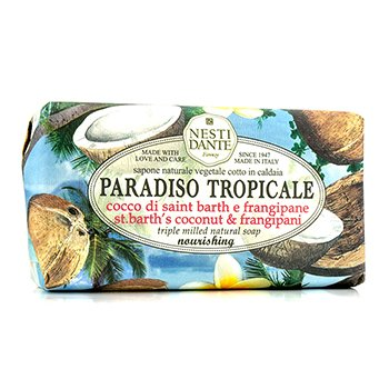 Nesti Dante Paradiso Tropicale Triple Milled Natural Soap - St. Barth's Coconut & Frangipani  250g/8.8oz