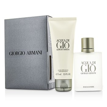 Giorgio Armani Acqua Di Gio Coffret: Eau De Toilette Spray 50ml/1.7oz + After Shave Balm 75ml/2.5oz  2pcs