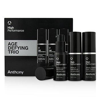 Anthony High Performance Age Defying Trio: Facial Treatment 15ml + Facial Serum 15ml + Eye Cream 15ml  3pcs