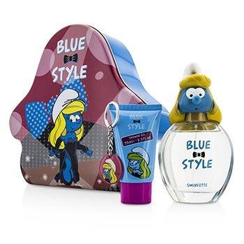 The Smurfs Smurfette Coffret: Eau De Toilette Spray 100ml/3.4oz + Shower Gel 75ml/2.5oz + Key Chain  3pcs