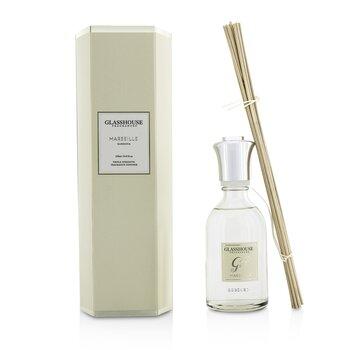 Glasshouse Triple Strength Fragrance Diffuser - Marseille (Gardenia)  250ml/8.45oz