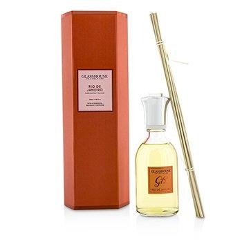Glasshouse Triple Strength Fragrance Diffuser - Rio De Janeiro (Passionfruit & Lime)  250ml/8.45oz