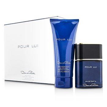 Oscar De La Renta Pour Lui Coffret: Eau De Toilette Spray 90ml/3oz + Hair & Body Wash 200ml/6.7oz  2pcs