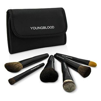 Youngblood Professional Mini 6pc Brush Set  6pcs