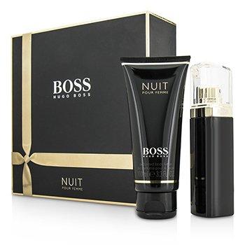 Hugo Boss Boss Nuit Pour Femme Coffret: Eau De Parfum Spray 50ml/1.6oz + Body Lotion 100ml/3.3oz  2pcs