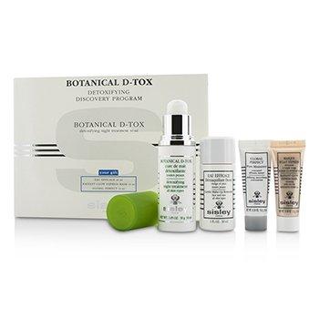 Sisley Botanical D-Tox Detoxifying Discovery Program: Botanical D-Tox 30ml + Make-Up Remover 30ml + Mask 10ml + Pore Minimizer 10ml  4pcs