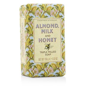 Crabtree & Evelyn Almond, Milk & Honey Triple Milled Soap  158g/5.57oz