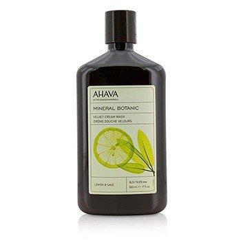 Ahava Mineral Botanic Velvet Cream Wash - Lemon & Sage  500ml/17oz