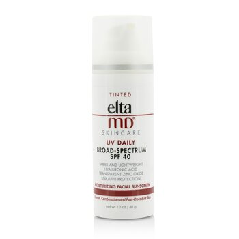 EltaMD UV Daily Moisturizing Facial Sunscreen SPF 40 - For Normal, Combination & Post-Procedure Skin - Tinted  48g/1.7oz