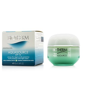 Biotherm Aquasource Multi-Protective Ultra-Light Cream SPF 15 - For Normal/Combination Skin  50ml/1.69oz