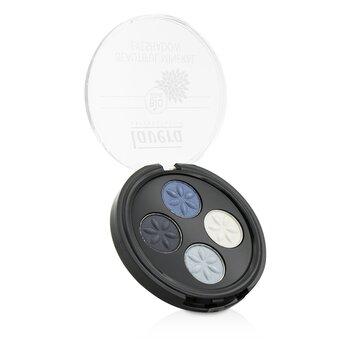 Lavera Beautiful Mineral Eyeshadow Quattro - # 07 Blue Platinum  4x0.8g/0.026oz