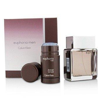 Calvin Klein Euphoria Coffret: Eau De Toilette Spray 100ml/3.4oz + Deodorant Stick 75g/2.6oz  2pcs