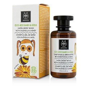 Apivita Eco-Bio Baby & Kids Hair & Body Wash With Calendula & Honey  200ml/6.8oz
