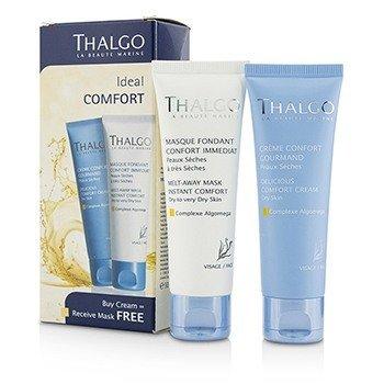 Thalgo Ideal Comfort Kit: Delicious Comfort Cream 50ml + Melt-Away Mask 50ml  2pcs