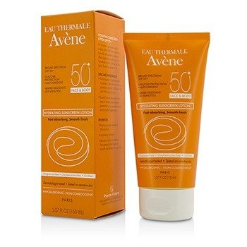 Avene Hydrating Sunscreen Lotion SPF 50 For Face & Body - 80 Minutes Water Resistant  150ml/5.07oz