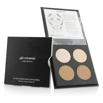 GloMinerals Contour Kit (1x Highlight, 1x Shimmer Highlight, 2x Contour) - Medium To Dark  13.2g/0.46oz