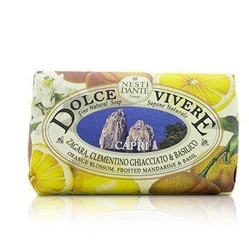 Nesti Dante Dolce Vivere Fine Natural Soap - Capri - Orange Blossom, Frosted Mandarine & Basil  250g/8.8oz