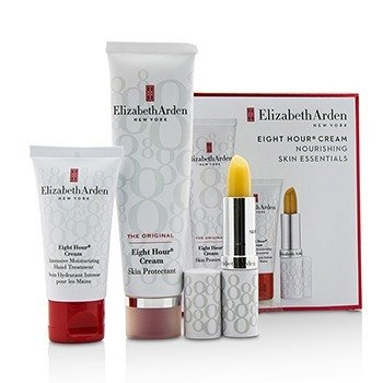 Elizabeth Arden Eight Hour Cream Nourishing Skin Essentials Set: Skin Protectant The Original+Hand Treatment+Lip Protectant Stick SPF 15  3pcs