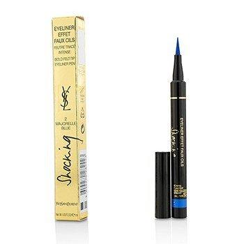 Yves Saint Laurent Eyeliner Effet Faux Cils Shocking (Bold Felt Tip Eyeliner Pen) - # 2 Majorelle Blue  1ml/0.03oz