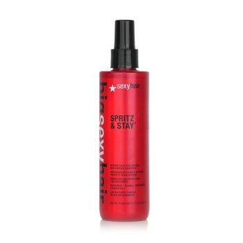 Sexy Hair Concepts Big Sexy Hair Spritz & Stay Intense Hold, Fast Drying, Non-Aerosol Hairspray  250ml/8.5oz