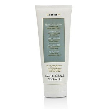 Korres Olympus Tea 3 In 1 Cleansing Emulsion - All Skin Types  200ml/6.76oz