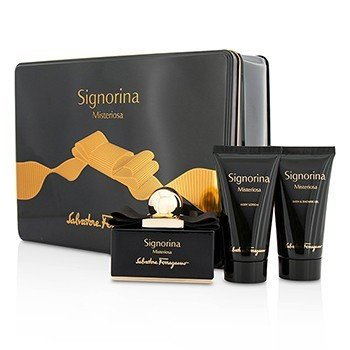 Salvatore Ferragamo Signorina Misteriosa Coffret: Eau De Parfum Spray 50ml/1.7oz + Body Lotion 50ml/1.7oz + Bath & Shower Gel 50ml/1.7oz  3pcs