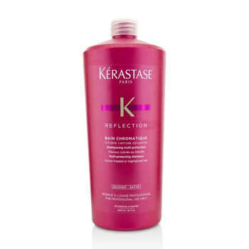 Kerastase Reflection Bain Chromatique Multi-Protecting Shampoo (Colour-Treated or Highlighted Hair)  1000ml/34oz