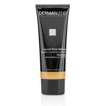 Dermablend Leg and Body Make Up Buildable Liquid Body Foundation Sunscreen Broad Spectrum SPF 25 - #Medium Bronze 45N  100ml/3.4oz