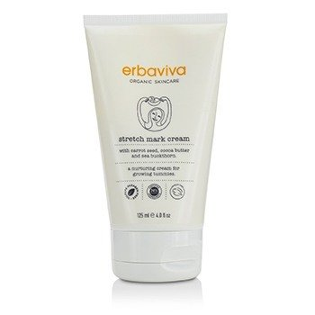 Erbaviva Stretch Mark Cream With Carrot Seed, Cocoa Butter & Sea Buckthorn  125ml/4oz