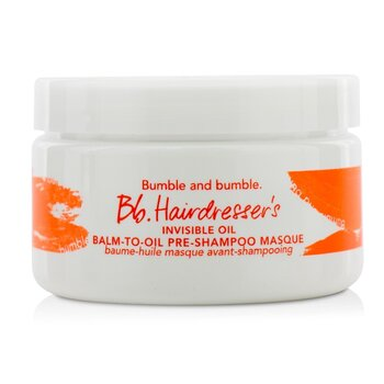 Bumble and Bumble Bb. Hairdresser's Invisible Oil Balm-To-Oil Pre-Shampoo Masque (For Dry to Very Dry Hair)  100ml/3oz