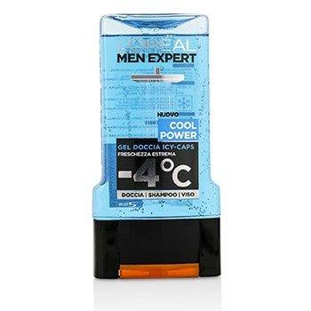 L'Oreal Men Expert Shower Gel - Cool Power (For Body, Face & Hair)  300ml/10.1oz