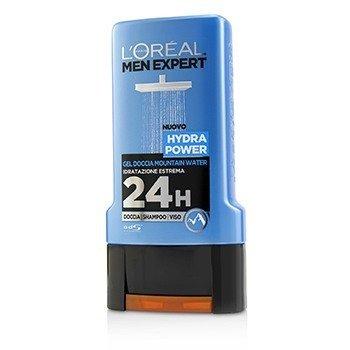 L'Oreal Men Expert Shower Gel - Hydra Power (For Body, Face & Hair)  300ml/10.1oz